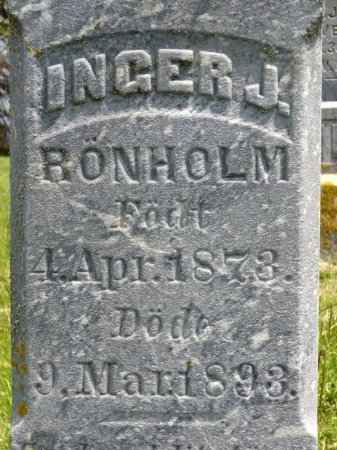 RIVENES RONHOLM, INGER J.  (CLOSE UP) - Minnehaha County, South Dakota | INGER J.  (CLOSE UP) RIVENES RONHOLM - South Dakota Gravestone Photos