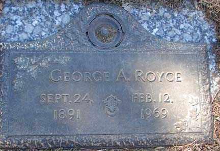 ROYCE, GEORGE A. - Minnehaha County, South Dakota | GEORGE A. ROYCE - South Dakota Gravestone Photos