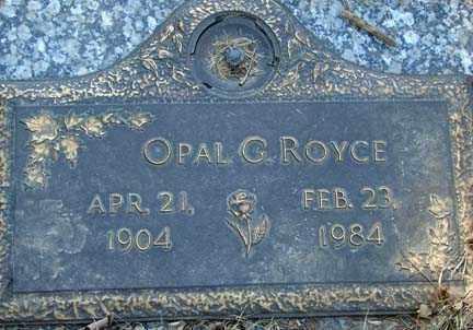 ROYCE, OPAL G. - Minnehaha County, South Dakota | OPAL G. ROYCE - South Dakota Gravestone Photos