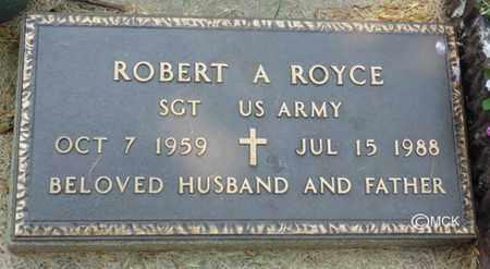 ROYCE, ROBERT A. - Minnehaha County, South Dakota | ROBERT A. ROYCE - South Dakota Gravestone Photos