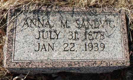 SANDVIG, ANNA MARTHA - Minnehaha County, South Dakota | ANNA MARTHA SANDVIG - South Dakota Gravestone Photos