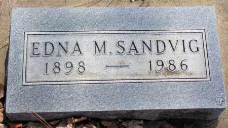 SANDVIG, EDNA M. - Minnehaha County, South Dakota   EDNA M. SANDVIG - South Dakota Gravestone Photos