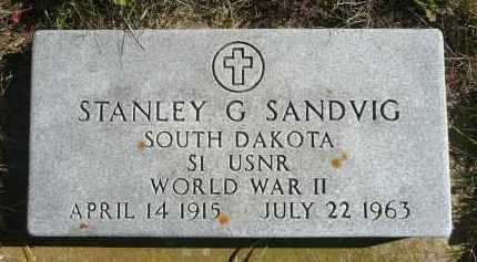 SANDVIG, STANLEY G. - Minnehaha County, South Dakota | STANLEY G. SANDVIG - South Dakota Gravestone Photos