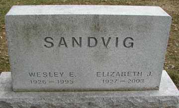 SANDVIG, ELIZABETH  J. - Minnehaha County, South Dakota | ELIZABETH  J. SANDVIG - South Dakota Gravestone Photos