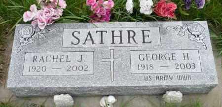 SATHRE, RACHEL J. - Minnehaha County, South Dakota | RACHEL J. SATHRE - South Dakota Gravestone Photos