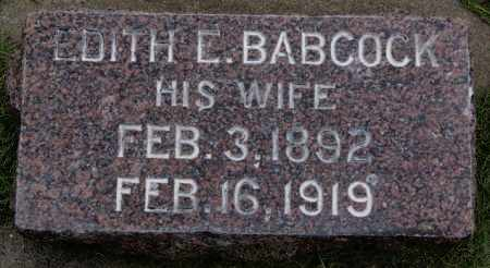 BABCOCK SAVAGE, EDITH E - Minnehaha County, South Dakota | EDITH E BABCOCK SAVAGE - South Dakota Gravestone Photos