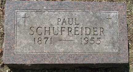 SCHUFREIDER, PAUL - Minnehaha County, South Dakota   PAUL SCHUFREIDER - South Dakota Gravestone Photos