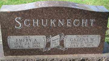 SCHUKNECHT, GAZENA M. - Minnehaha County, South Dakota | GAZENA M. SCHUKNECHT - South Dakota Gravestone Photos
