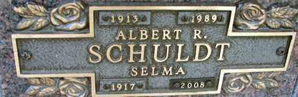 SCHULDT, ALBERT R. - Minnehaha County, South Dakota   ALBERT R. SCHULDT - South Dakota Gravestone Photos