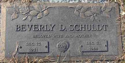 SCHULDT, BEVERLY D. - Minnehaha County, South Dakota | BEVERLY D. SCHULDT - South Dakota Gravestone Photos