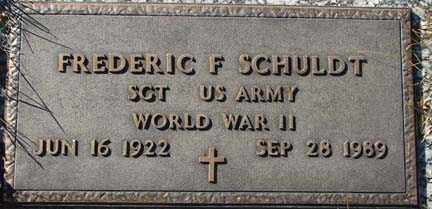 SCHULDT, FREDERIC F.. - Minnehaha County, South Dakota | FREDERIC F.. SCHULDT - South Dakota Gravestone Photos