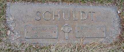 SCHULDT, MATHILDA - Minnehaha County, South Dakota | MATHILDA SCHULDT - South Dakota Gravestone Photos