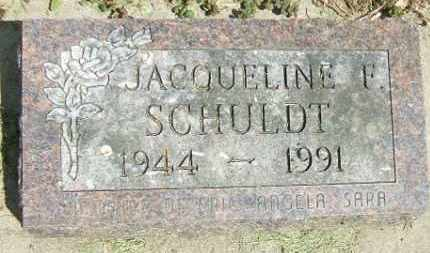 SCHULDT, JACQUELINE F. - Minnehaha County, South Dakota | JACQUELINE F. SCHULDT - South Dakota Gravestone Photos