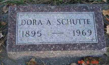 SCHUTTE, DORA A. - Minnehaha County, South Dakota | DORA A. SCHUTTE - South Dakota Gravestone Photos