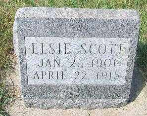 SCOTT, ELSIE - Minnehaha County, South Dakota   ELSIE SCOTT - South Dakota Gravestone Photos
