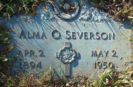 SEVERSON, ALMA O. - Minnehaha County, South Dakota | ALMA O. SEVERSON - South Dakota Gravestone Photos