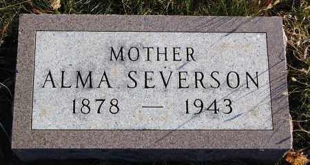 SEVERSON, ALMA - Minnehaha County, South Dakota   ALMA SEVERSON - South Dakota Gravestone Photos