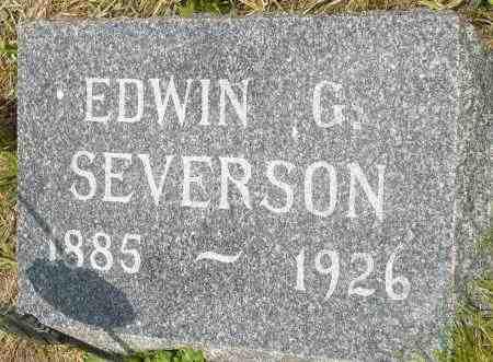 SEVERSON, EDWIN G. - Minnehaha County, South Dakota | EDWIN G. SEVERSON - South Dakota Gravestone Photos