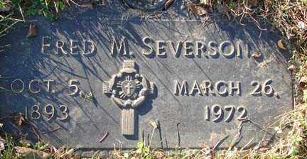 SEVERSON, FRED M. - Minnehaha County, South Dakota | FRED M. SEVERSON - South Dakota Gravestone Photos