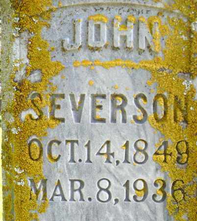 SEVERSON, JOHN - Minnehaha County, South Dakota | JOHN SEVERSON - South Dakota Gravestone Photos