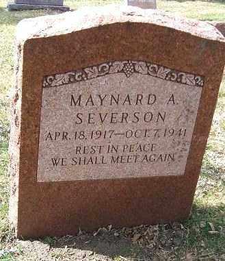 SEVERSON, MAYNARD A. - Minnehaha County, South Dakota   MAYNARD A. SEVERSON - South Dakota Gravestone Photos