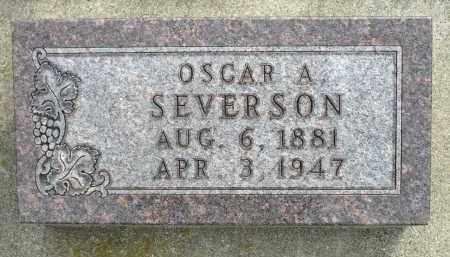 SEVERSON, OSCAR A. - Minnehaha County, South Dakota | OSCAR A. SEVERSON - South Dakota Gravestone Photos