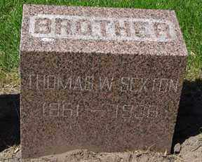 SEXTON, THOMAS W. - Minnehaha County, South Dakota | THOMAS W. SEXTON - South Dakota Gravestone Photos