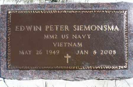 SIEMONSMA, EDWIN PETER - Minnehaha County, South Dakota   EDWIN PETER SIEMONSMA - South Dakota Gravestone Photos