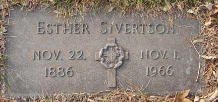 SIVERTSON, ESTHER - Minnehaha County, South Dakota   ESTHER SIVERTSON - South Dakota Gravestone Photos