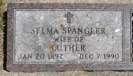 SPANGLER, SELMA M. - Minnehaha County, South Dakota | SELMA M. SPANGLER - South Dakota Gravestone Photos