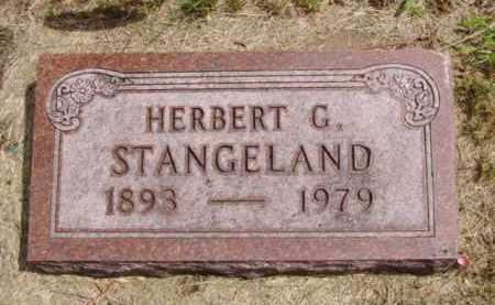 STANGELAND, HERBERT G. - Minnehaha County, South Dakota | HERBERT G. STANGELAND - South Dakota Gravestone Photos