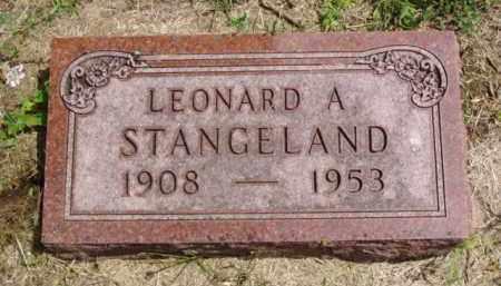 STANGELAND, LEONARD A. - Minnehaha County, South Dakota | LEONARD A. STANGELAND - South Dakota Gravestone Photos