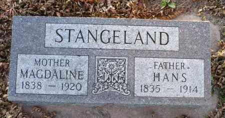STANGELAND, HANS - Minnehaha County, South Dakota | HANS STANGELAND - South Dakota Gravestone Photos