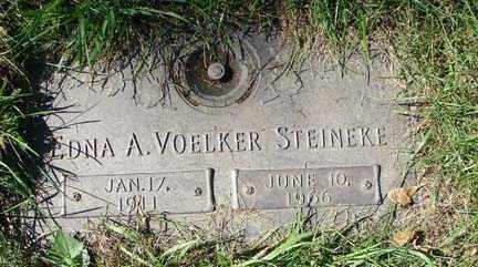 VOELKER STEINEKE, EDNA A. - Minnehaha County, South Dakota | EDNA A. VOELKER STEINEKE - South Dakota Gravestone Photos