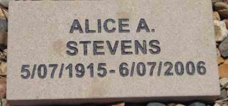 STEVENS, ALICE A. - Minnehaha County, South Dakota | ALICE A. STEVENS - South Dakota Gravestone Photos