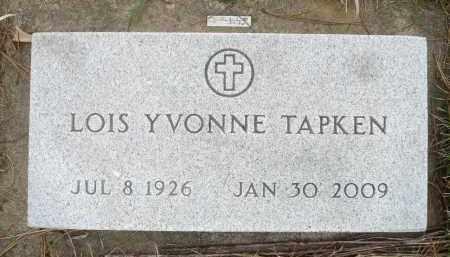 TAPKEN, LOIS YVONNE - Minnehaha County, South Dakota | LOIS YVONNE TAPKEN - South Dakota Gravestone Photos