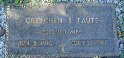 TAUTE, GRETCHEN S. - Minnehaha County, South Dakota | GRETCHEN S. TAUTE - South Dakota Gravestone Photos