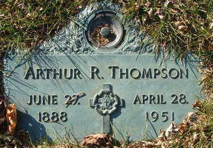 THOMPSON, ARTHUR R. - Minnehaha County, South Dakota | ARTHUR R. THOMPSON - South Dakota Gravestone Photos