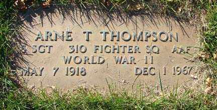 THOMPSON, ARNE T. - Minnehaha County, South Dakota | ARNE T. THOMPSON - South Dakota Gravestone Photos
