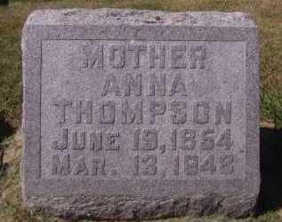 THOMPSON, ANNA - Minnehaha County, South Dakota | ANNA THOMPSON - South Dakota Gravestone Photos