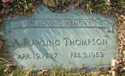 THOMPSON, ALFRED RAWLING - Minnehaha County, South Dakota | ALFRED RAWLING THOMPSON - South Dakota Gravestone Photos