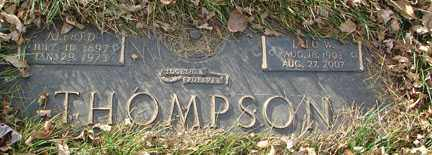 THOMPSON, LULU W. - Minnehaha County, South Dakota | LULU W. THOMPSON - South Dakota Gravestone Photos