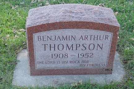 THOMPSON, BENJAMIN ARTHUR - Minnehaha County, South Dakota   BENJAMIN ARTHUR THOMPSON - South Dakota Gravestone Photos