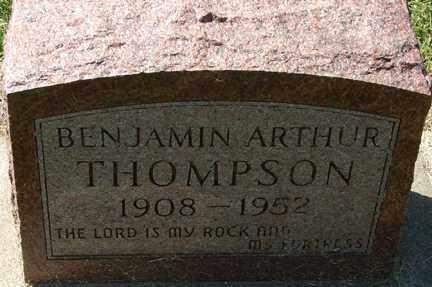 THOMPSON, BENJAMIN ARTHUR - Minnehaha County, South Dakota | BENJAMIN ARTHUR THOMPSON - South Dakota Gravestone Photos