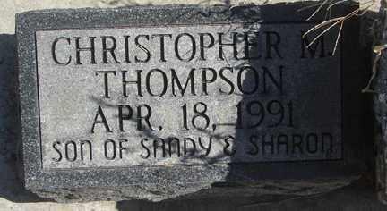 THOMPSON, CHRISTOPHER M. - Minnehaha County, South Dakota   CHRISTOPHER M. THOMPSON - South Dakota Gravestone Photos