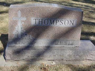 THOMPSON, CLARANCE H. - Minnehaha County, South Dakota   CLARANCE H. THOMPSON - South Dakota Gravestone Photos