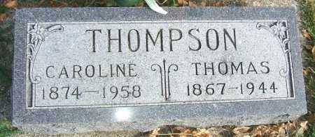 THOMPSON, CAROLINE - Minnehaha County, South Dakota   CAROLINE THOMPSON - South Dakota Gravestone Photos