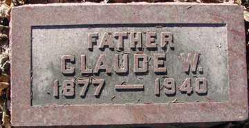 THOMPSON, CLAUDE W. - Minnehaha County, South Dakota   CLAUDE W. THOMPSON - South Dakota Gravestone Photos