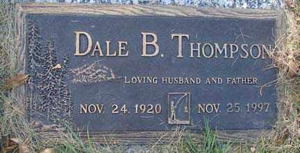 THOMPSON, DALE B. - Minnehaha County, South Dakota | DALE B. THOMPSON - South Dakota Gravestone Photos