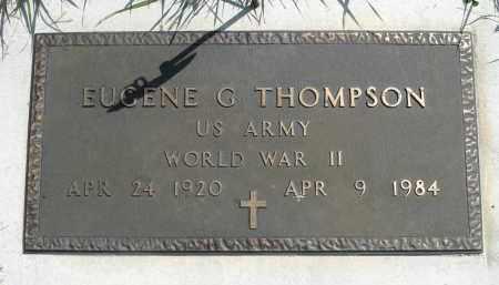 THOMPSON, EUGENE G. (WWII) - Minnehaha County, South Dakota   EUGENE G. (WWII) THOMPSON - South Dakota Gravestone Photos